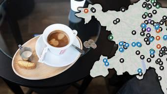 Die Preise für einen Kaffee crème sind im Aargau sehr unterschiedlich.