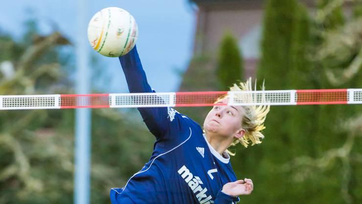 Der STV Oberentfelden-Amsteg - im Bild Jaqueline Fedier - punktet fleissig und steht in den Playoffs.
