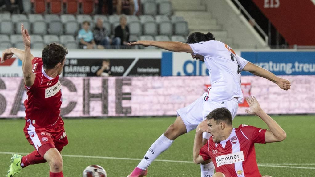 Spätes Aarauer Siegestor: Mickaël Almeida trifft gegen Thun in der 94. Minute