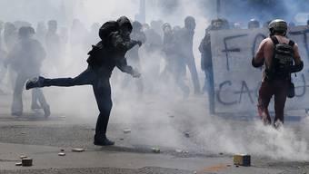 Randale an der Grosskundgebung in Paris