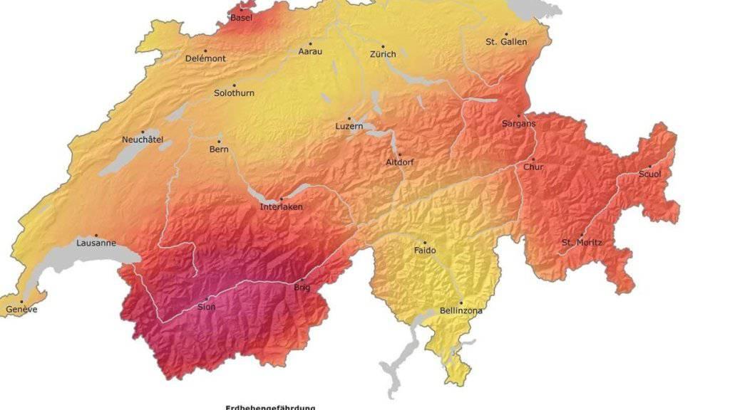 """Auf der aktuellen Erdbebengefährdungskarte gibt es keine """"harmlosen"""" grünen Flecken mehr. Immer und überall kann die Erde beben."""