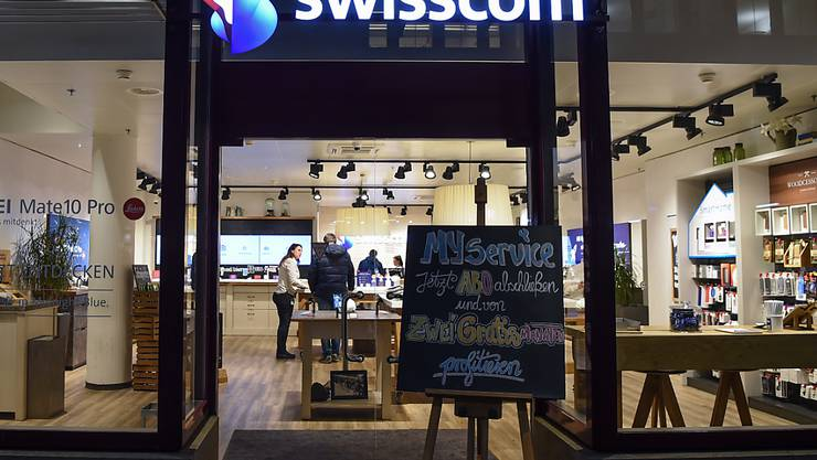 Sind bald alle geschlossen? Swisscom Shop in Zürich. (Archivbild)