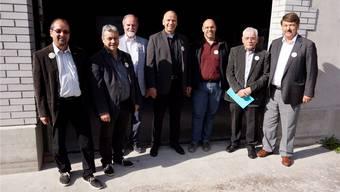 Die Fusionsgegner haben zur Gründung des Nein-Komitees eingeladen und über ihre Sicht der Dinge berichtet. Es informierten von links: Roberto Conti, MarkusBaumann, Rudolf Heri, Markus Dick, Hans Rothenbühler, Ulrich Bucher und Andreas Wyss.