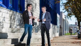 Zwei «bekennende Christen»: EVP-Kantonsrat René Steiner (links) und SP-Nationalrat Philipp Hadorn. Der SP-Mann hofft am 18. Oktober auf Wählerstimmen aus dem reformierten und freikirchlichen Lager.