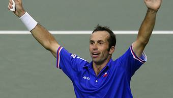 Radek Stepanek nach seinem Sieg im Einzel