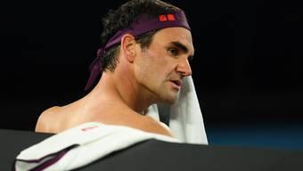 Roger Federer kämpft mit seinem Gegner, sich und seinem Körper.