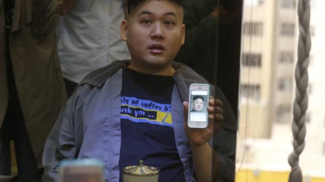 Aus Hongkong stammender Doppelgänger von Kim Jong Un (Symbolbild)