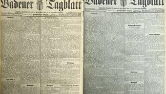 Die Berichterstattung des Badener Tagblatts zur Weltwirtschaftskrise im Jahr 1929.