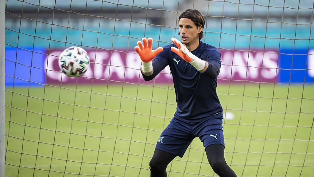Fokus auf Ball und Spiel: Nach kurzem Vaterschaftsurlaub steht Yann Sommer auch gegen die Türkei im Schweizer Tor.