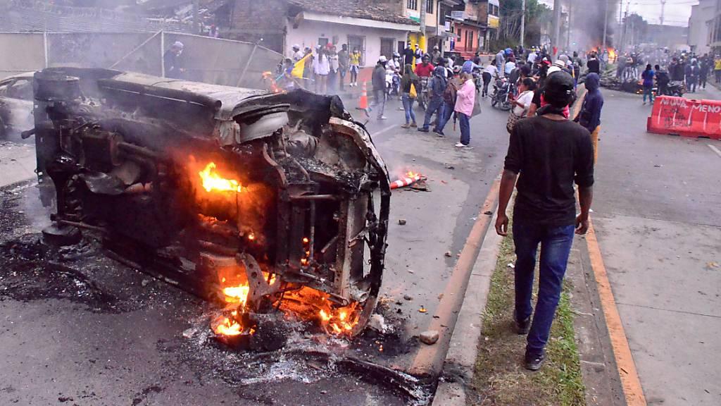 Kolumbien kündigt Militär-Einsatz bei Protesten an