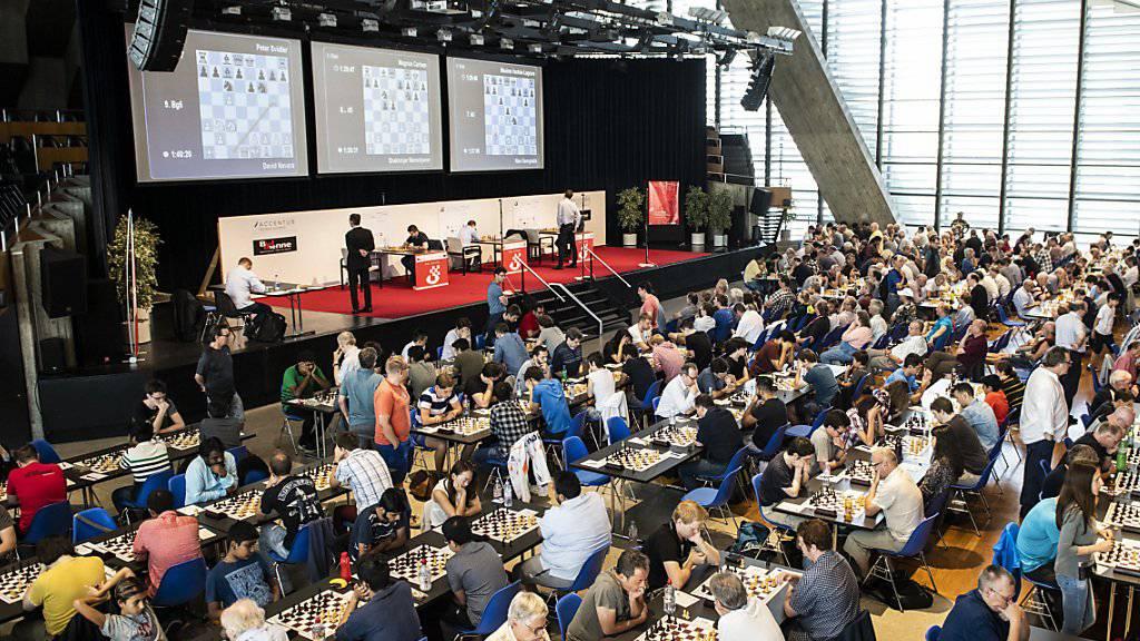 Reges Treiben am Bieler Schachfestival. (Archivaufnahme)