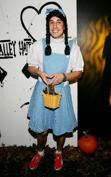 Schauspieler Jason Biggs bei Heidi Klums Halloweenparty. (Photo by Evan Agostini/Getty Images)