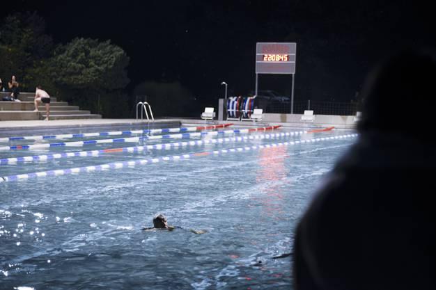 Vollmondschwimmen Badi Solothurn