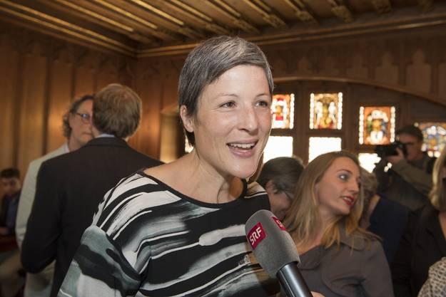 Sandra Kohler im Tagsatzungssaal. Stadtratswahlen Baden