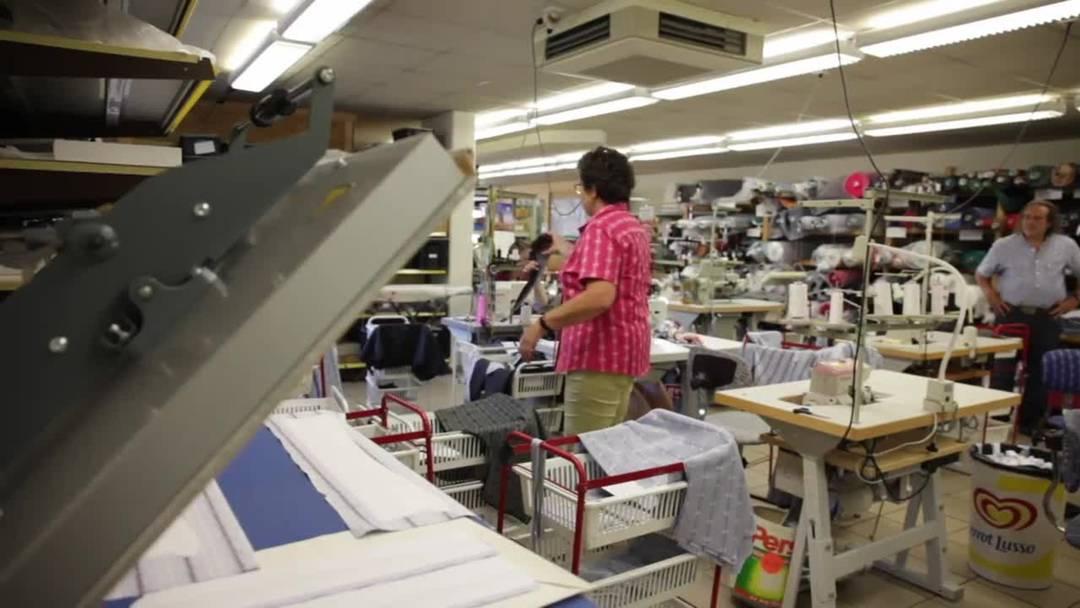 In Meiringen werden die Schwingerhemden genäht