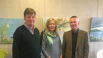 Diskutierten an der Finissage: Carlo Mettauer, Béatrice und Silvio Bircher.