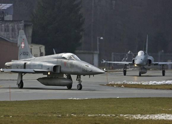 Zwei Tiger auf dem Flugplatz in Meiringen