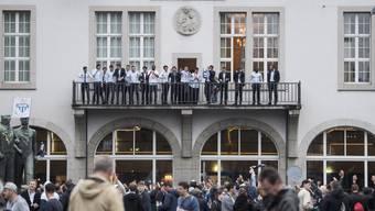 Trauriges Bild der Cup-Party: Absteiger FCZ «feiert» vor fast leerem Helvetiaplatz