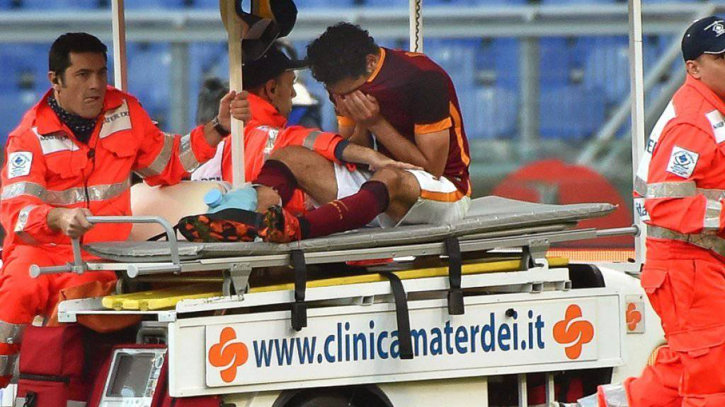 Mohamed Salah verliess das Feld am Sonntag auf der Bahre