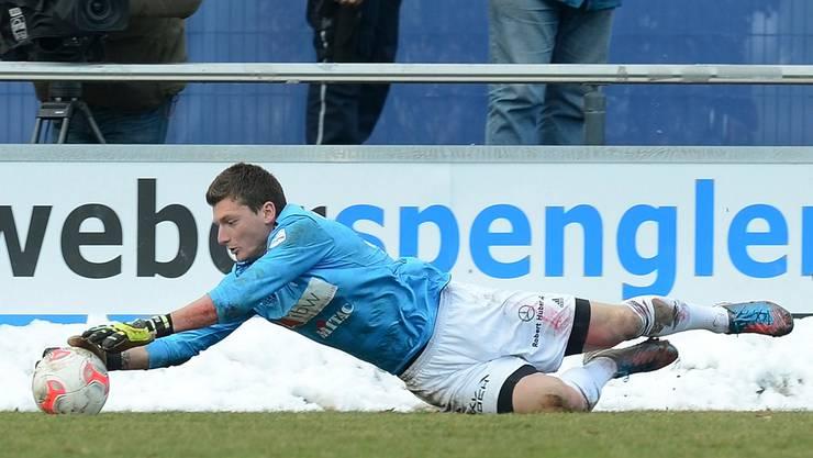 Wohlens Goalie Flamur Tahiraj und seine Kollegen machten im Tessin eine Bauchlandung.
