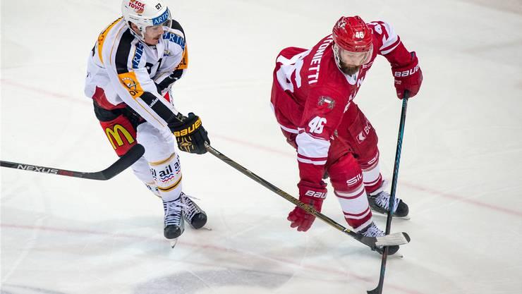 Benjamin Antonietti, der einzige Westschweizer beim HC Lausanne gegen Ambri.