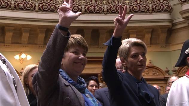 Die neuen Bundesrätinnen sind vereidigt