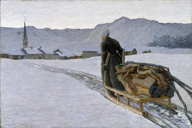 «Ritorno dal bosco» von Giovanni Segantini. Kunstmuseum St. Gallen
