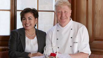Maria und Heinz Schenkel führen zusammen das Restaurant Krone.