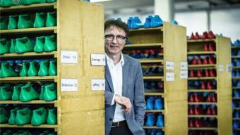 Daniel Omlin, Geschäftsleiter der Schuhfabrik Fretz Men in Fahrwangen. Chris Iseli