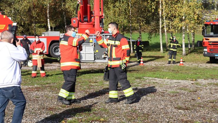 Thomas Huber übergibt das Feuerwehrkommando an Fabian Bircher