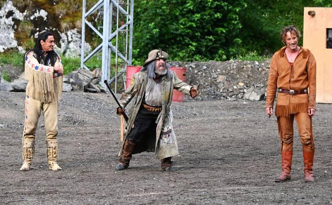 Neben Winnetou und Old Shatterhand gehört natürlich auch Sam Hawkens (David Matthäus Zurbuchen) zu den Publikumslieblingen.