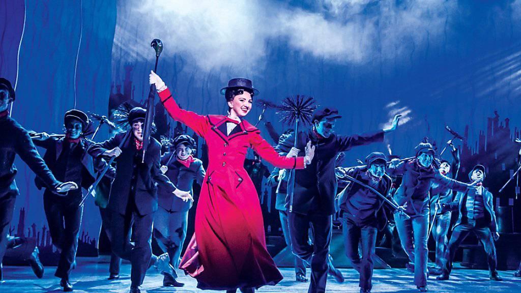 Im Theater 11 in Zürich gastiert das Musical «Mary Poppins» - erstmals in der Schweiz - in englischer Sprache. Premiere war am 5. Februar 2017.