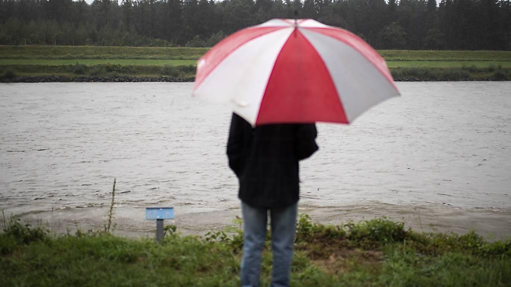 Hochwasser überall in der Nordostschweiz (Archivbild).