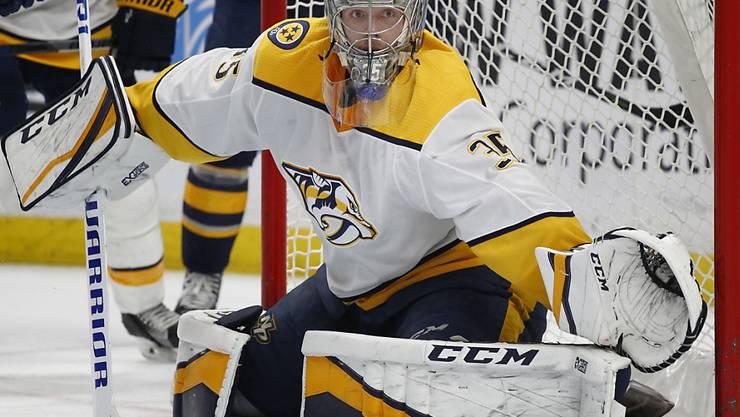 Konnte von Buffalo nicht bezwungen werden: Nashvilles Goalie Pekka Rinne