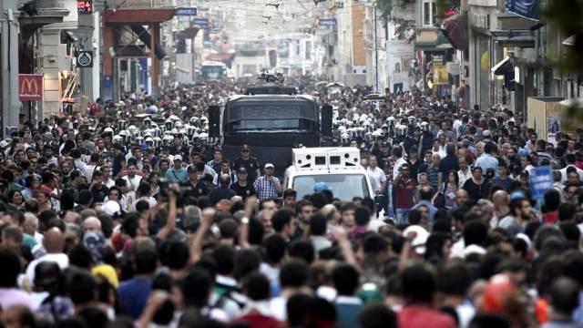Protest gegen die Regierung Erdogan im Juli in Istanbul