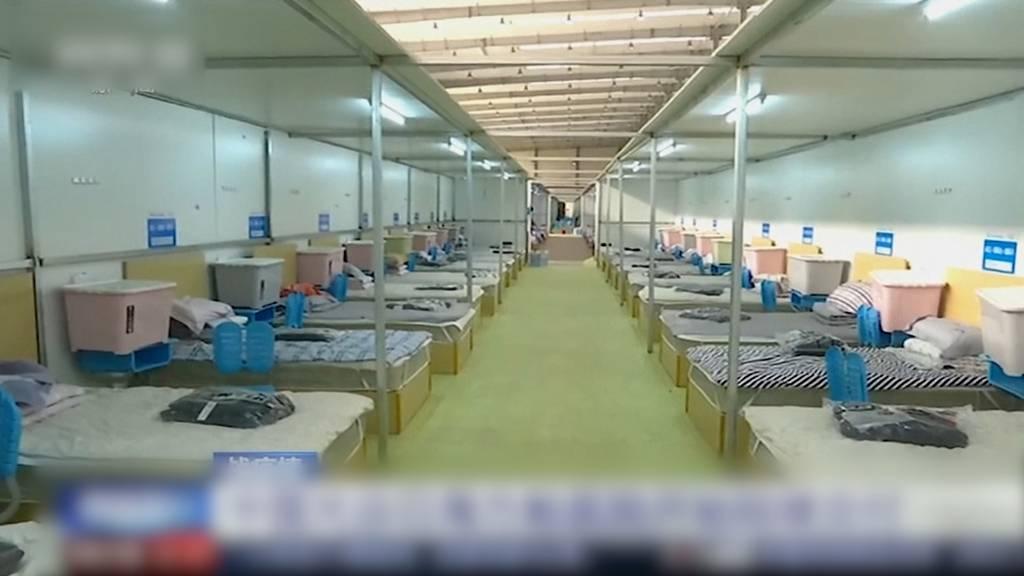 Grösstes Blitz-Spital in Wuhan ist bezugsbereit