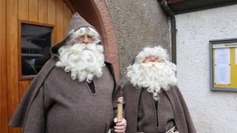 Die Samichläuse der Rheinfelder Chlausengilde tragen traditionell eine braune Kutte. Archiv