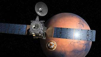 Die Raumsonde Schiaparelli ist am Mittwoch auf dem Mars gelandet. (Illustration)