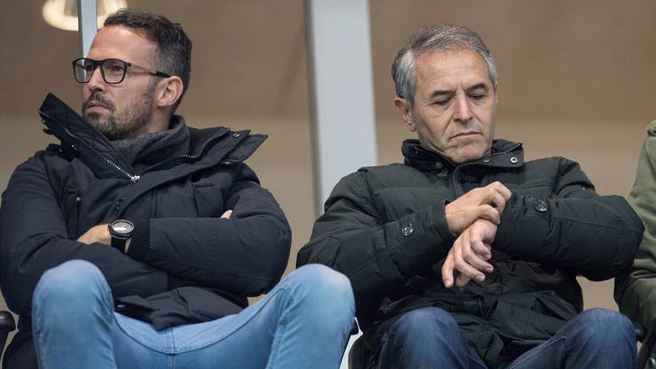 Marcel Koller neben Sportchef Streller: Der FCB-Trainer hatte in der Winterpause Zeit, sein Team zu formen.