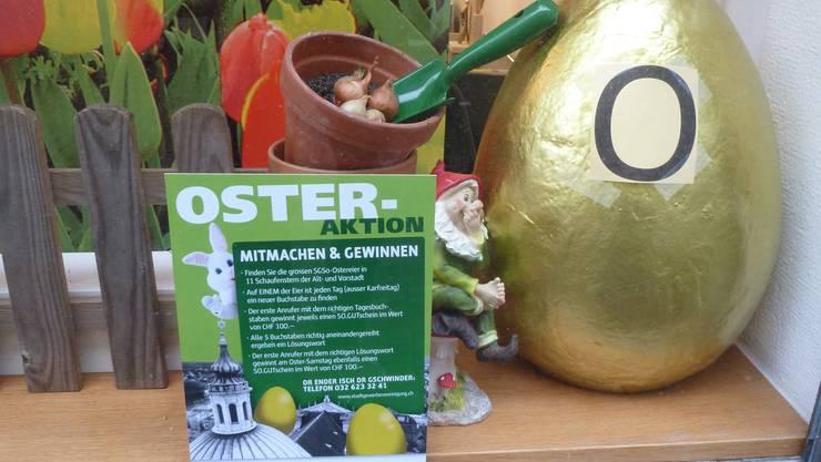 Ostern dagegen bewirbt die Stadt- und Gewerbevereinigung.