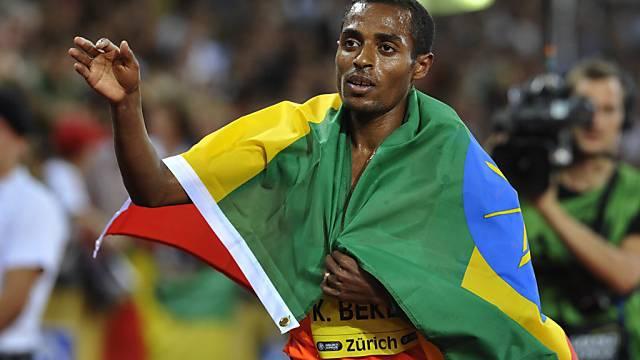 Kenenisa Bekele konnte sich auf den letzten 400 m absetzen
