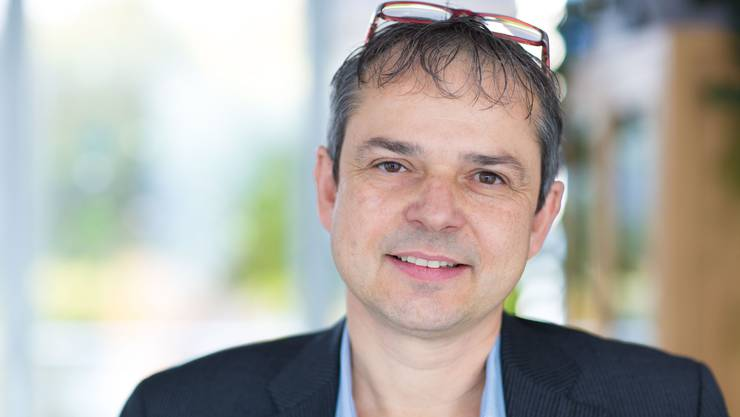 Philipp Hadorn beim Interview-Termin für dieses Portrait.
