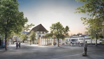 Den Schlieremer Bahnhofplatz planen die SBB vorerst auf Grundlage einer Tempo-20-Zone ohne Trottoirs und mit Fussgängervortritt.