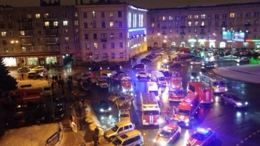 In St.Petersburg kam es in einem Supermarkt zu einer Explosion