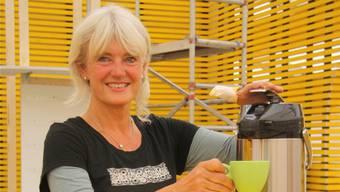 Die visuelle Gestalterin und Standbauerin der Herbstmesse Solothurn Liliane Herzog.