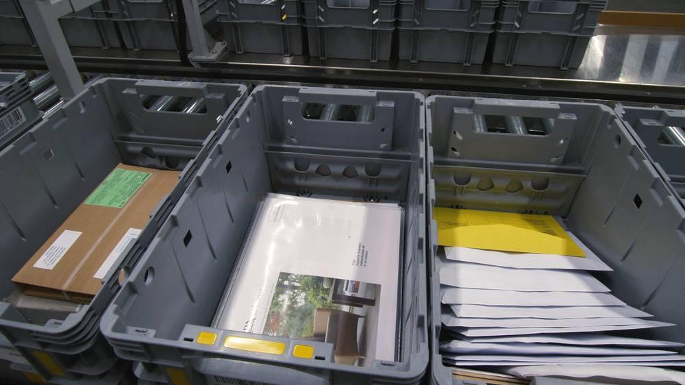 Weisses Pulver legt Postzentrum lahm