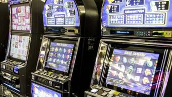 Im richtigen Moment gestoppt: Spielautomaten im Casino Baden