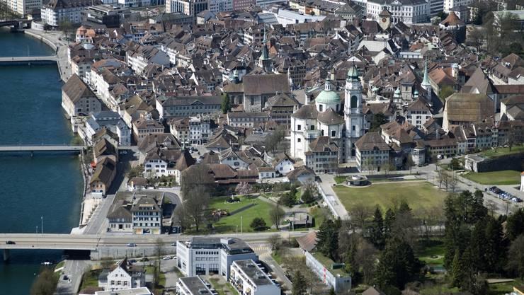 Luftaufnahme der Altstadt Solothurn