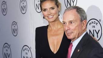 Heidi Klum und Bürgermeister Bloomberg bei den Made in NY Awards