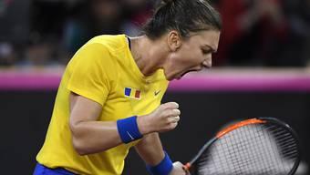 Rumäniens Nummer 1 Simona Halep muss gegen Viktorija Golubic mehr beissen als erwartet